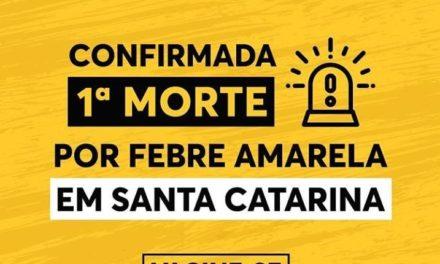 DIVE/SC confirma óbito por febre amarela em Santa Catarina