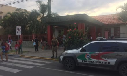 Polícia Militar protege escola