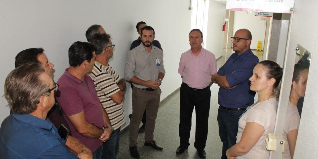 Vereadores visitam HRA e se comprometem em unir forças para ajudar IMAS