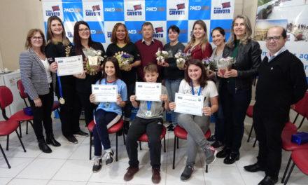 Estudantes foram premiados pela olimpíada de Língua Portuguesa em Balneário Gaivota