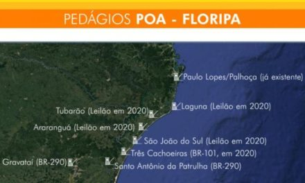 Quatro praças de pedágio serão instaladas entre Palhoça e São João do Sul