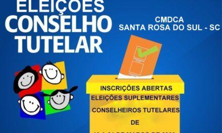Santa Rosa do Sul abre inscrições para o processo de escolha de membros suplentes do conselho tutelar