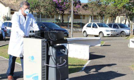 Unesc entrega o primeiro projeto de higienização por ozônio para o combate da pandemia Covid-19 do Sul do Brasil