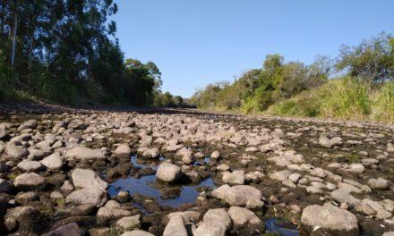 Rio Mampituba em tempos de seca