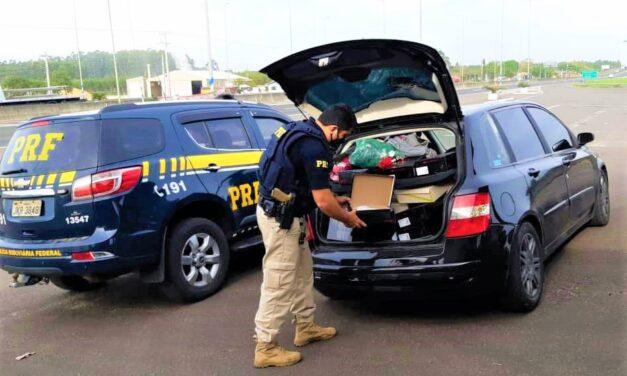 Procurado pela justiça é preso com produtos furtados na BR 101 em Araranguá