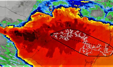 Maior raio do mundo foi entre Argentina, Rio Grande do Sul e Santa Catarina