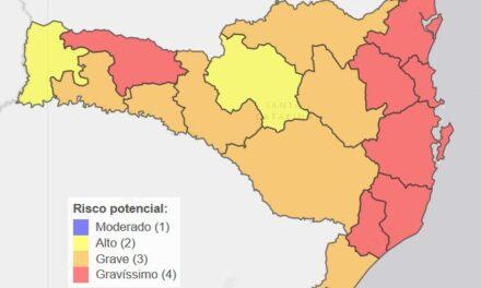 Covid-19: SC tem sete regiões classificadas com risco gravíssimo