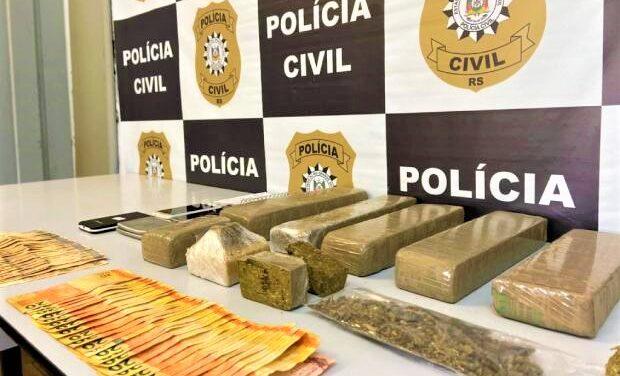 Polícia Civil de Caxias do Sul desarticula grupo que levava drogas de Santa Catarina