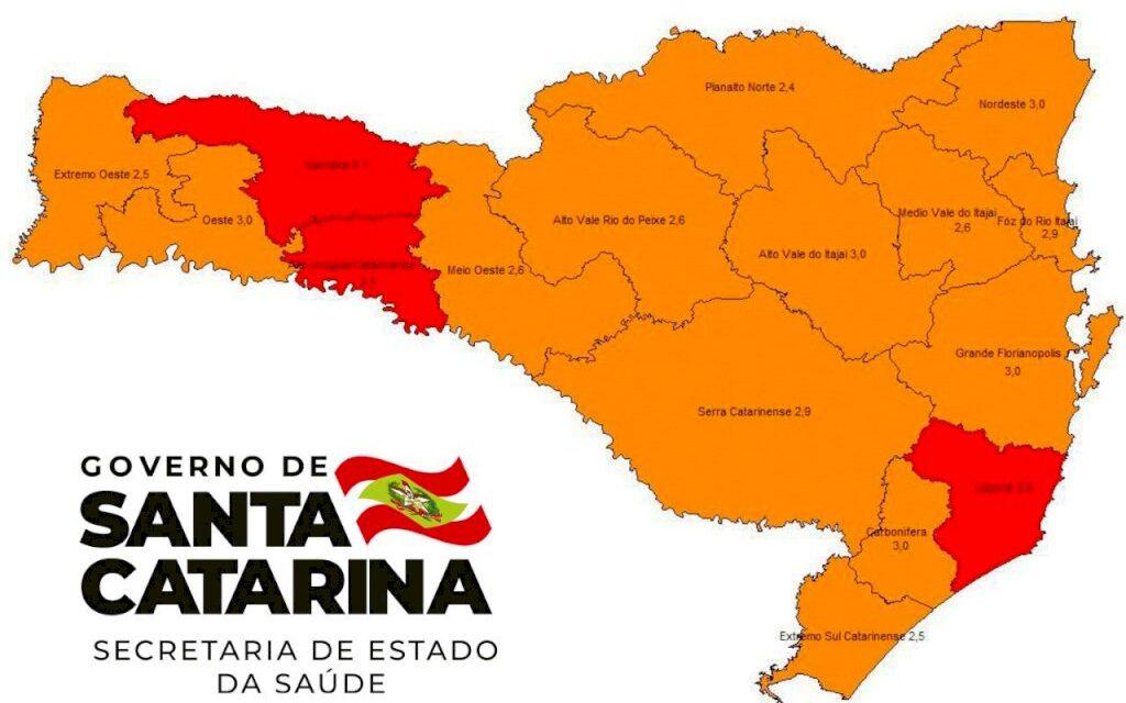 SC tem três regiões em risco gravíssimo para Covid