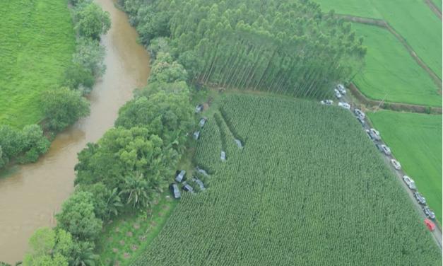 Agricultor viu carro em plantação antes de assalto em Criciúma