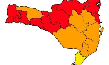 Extremo Sul Catarinense cai para o risco alto (bandeira amarela) para Covid-19