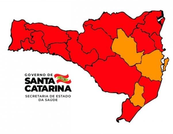 Extremo Sul Catarinense retorna ao nível gravíssimo para transmissão do novo coronavírus