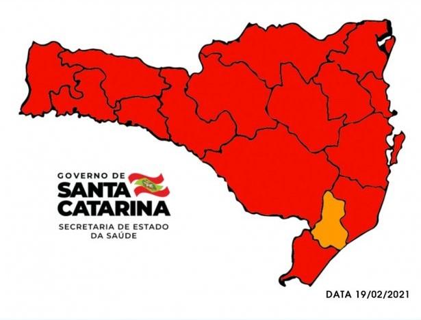 Extremo Sul Catarinense volta ao nível gravíssimo para Covid-19