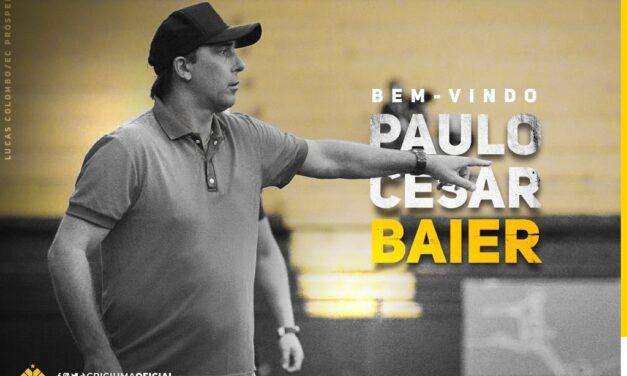 Paulo Baier é o  novo técnico  do Criciúma