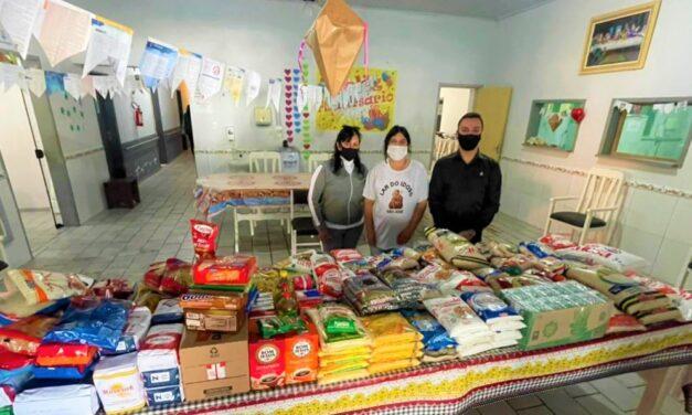 Vereador Gean Albino, presidente da Câmara de Vereadores arrecada 300 quilos de alimentos em seu aniversário