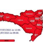 Defesa Civil Catarinense emite alerta de declínio acentuado das temperaturas