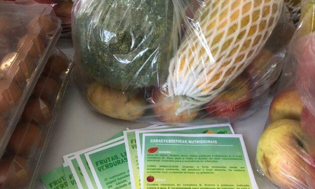 Famílias recebem produtos e orientação sobre alimentação saudável em Santa Rosa do Sul