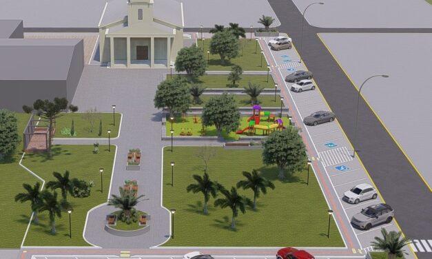 Santa Rosa do Sul apresenta projeto de revitalização da praça de Vila São Cristóvão